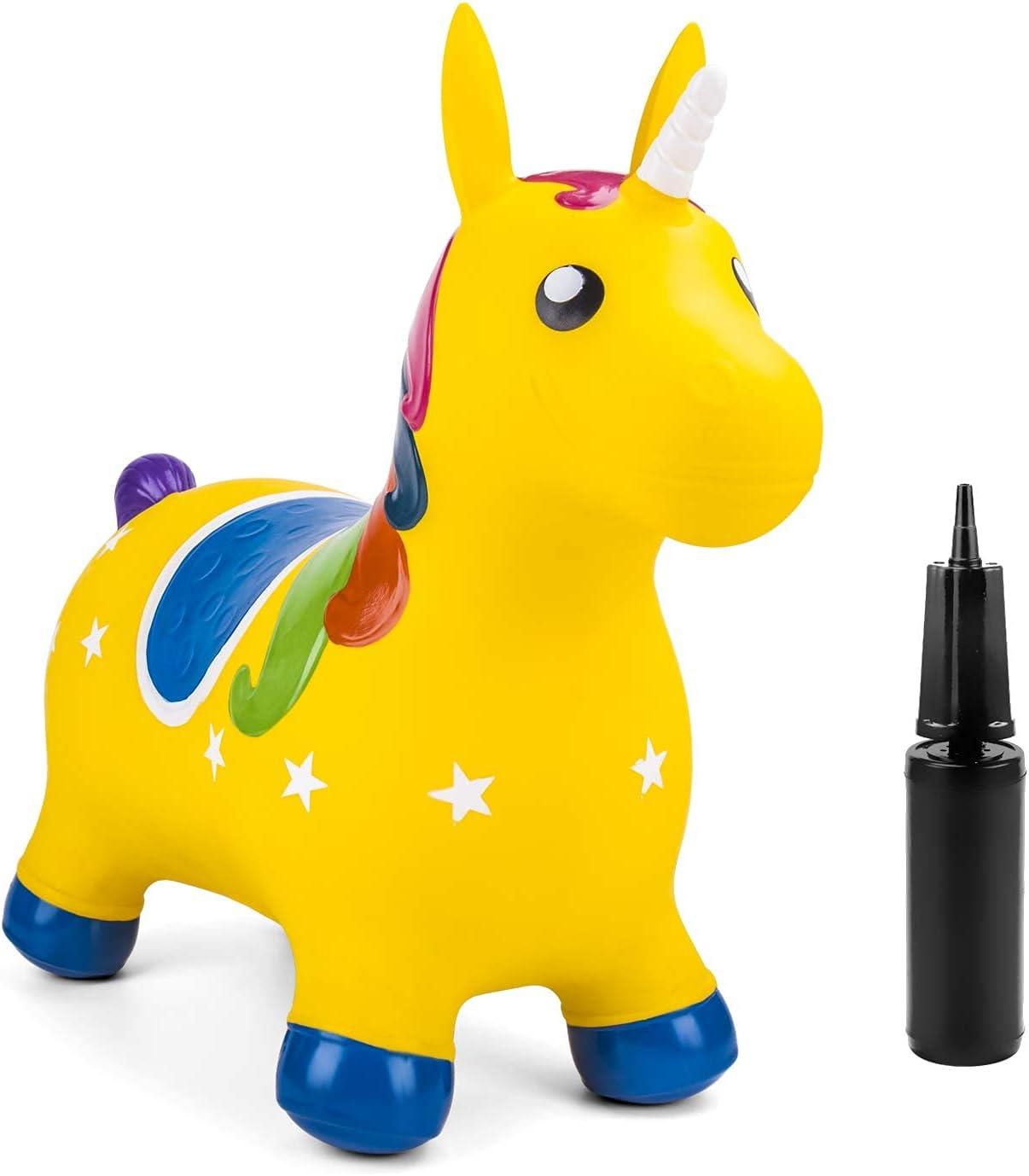 Bouncy Unicorn Hopper Inflatable Ride On Farm Animal Hopping Hor