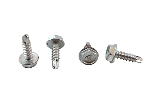 410 Stainless Steel Self Tapping Choose Size and Qty #10 X 2-1//2 Stainless Hex Washer Head Self Drilling Screws, 100pc