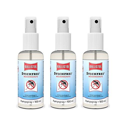 Ballistol Steekvrij, 3 stuks à 100 ml pompspray muggenspray insectenspray