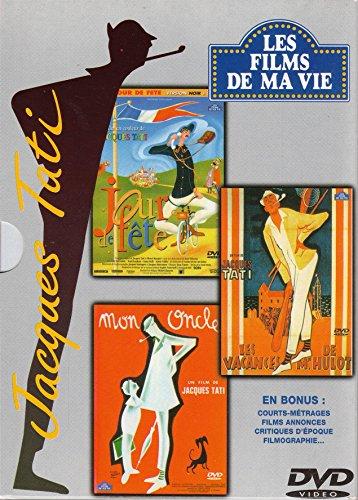 Jacques Tati (coffret 3 Films): Jour de fête (version en couleurs et version noir & blanc) - Les vacances de Mr Hulot - Mon oncle (coffret Les films de ma vie)