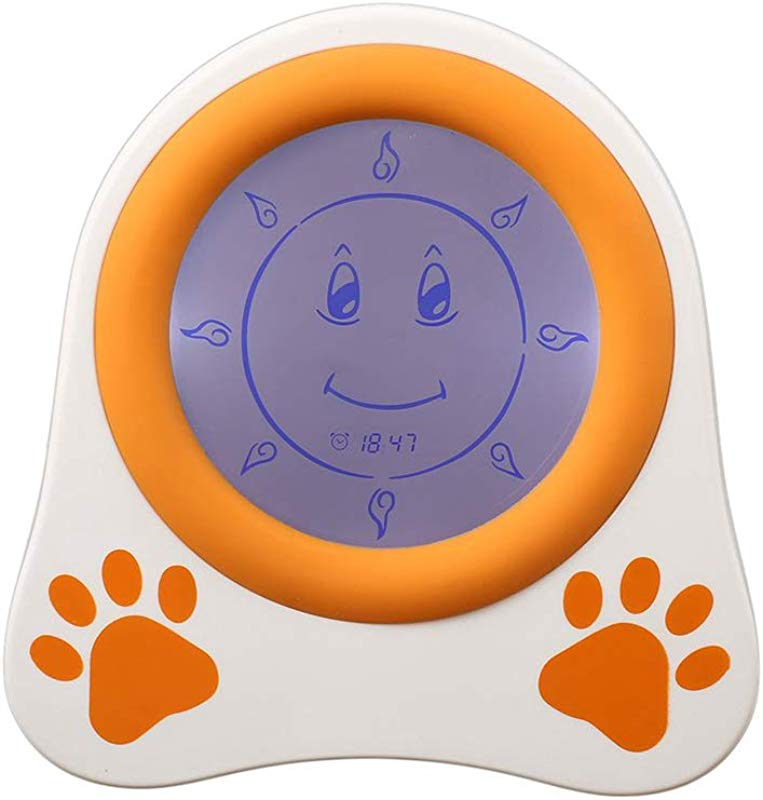 Happy Nest Clocks Kids Alarm Clock Children Sleep Trainer With Rechargeable Battery And Night Light Clock For Toddlers Girls Boys Bedroom Teach Time To Wake