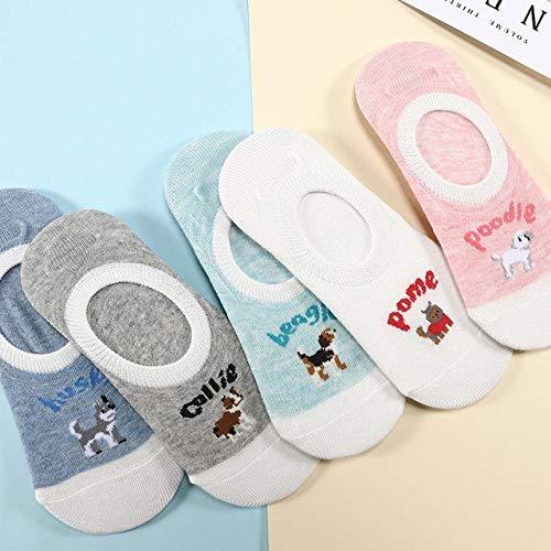 5 Pairs Women's Short Socks Cute Lovely Kawaii Cartoon Sweet Cotton Women Socks Casual Women Ankle Socks Funny Socks Female - 15