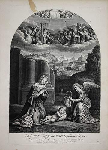 La Sainte Vierge adorant l'Enfant Jesus - Mother Mary Jesus Maria Mutter Gottes