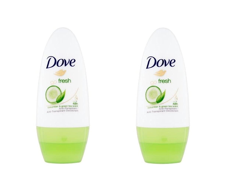 長老追い出す有名人Dove Go Fresh Cucumber & Green Tea Scent Anti-perspirant Deodorant Roll-on 50ml (1.7 Fluid Ounce). (Pack of 2) by Dove [並行輸入品]