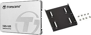 【セット買い】Transcend SSD 240GB 2.5インチ SATA3 6Gb/s 3D TLC NAND採用 3年保証 TS240GSSD220S & オウルテック 2.5インチHDD/SSD用→3.5インチサイズ変換ブラケット ネジ...