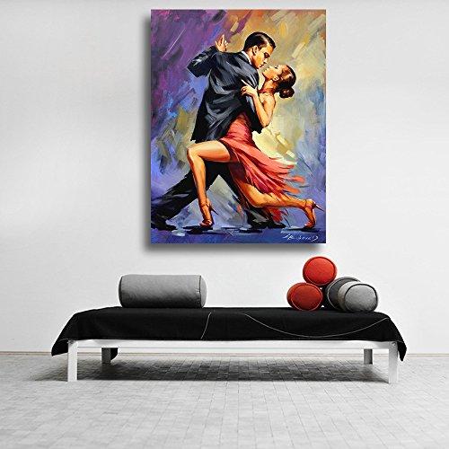 adgkitb canvas Leinwand Malerei Poster drucken Paar tanzen Tango Bild gedruckt auf Leinwand Wandkunst für Home Office Dekorationen 60x75cm Kein Rahmen