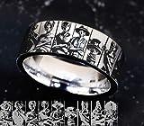 One Piece Wedding Ring, One Piece Luffy Wedding Band, Monkey D Luffy Engagement Ring, Zoro One Piece Anime Gift, Roronoa Zoro Anime Ring,