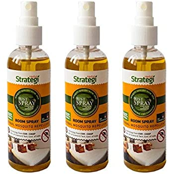 Herbal Strategi JustSpray Mosquito Repellent Room Spray - 100ml (Pack of 3)