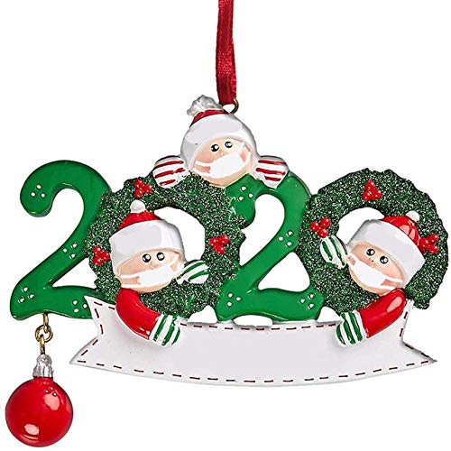 YZjk Christmas Ornament Decorations Xmas Tree Hanging Ornament Santa Claus Pendant Christmas Decoration for Home Family Party Gift