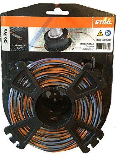 Stihl 00009304301Fil de coupe cruciforme avec partie carbone, 00009304302