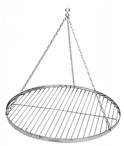 Best Sporting Schwenk-Grillrost aus Edelstahl mit Aufhängungs-Kette, Durchmesser ca. 60 cm, passend für alle Dreibeine
