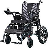Silla de Ruedas eléctrica, Silla de ruedas silla de ruedas eléctrica for trabajo pesado, plegable y ligero silla de ruedas eléctrica, 360¡Ã palanca de mando, capacidad de peso 100Kg cómodo ,Andador