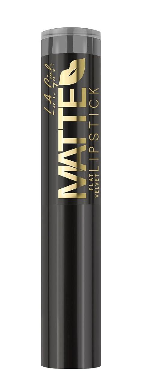 苦しむ炭素デマンドL.A. GIRL Matte Flat Velvet Lipstick Poetic (並行輸入品)