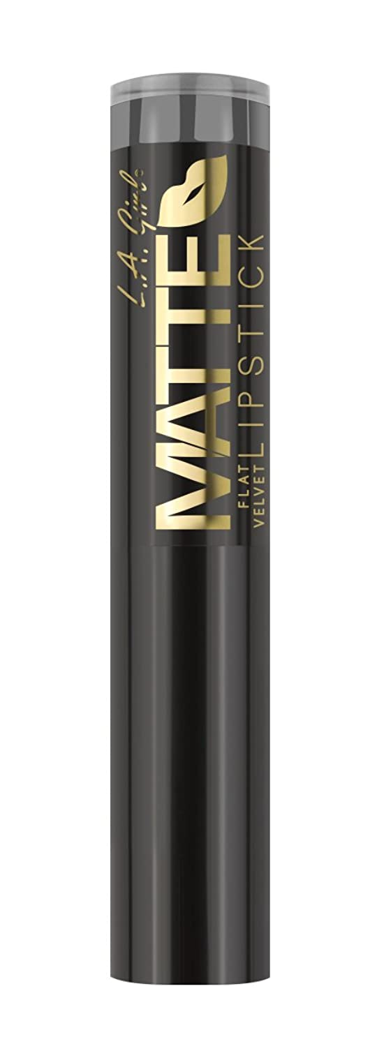 先祖ジョセフバンクス払い戻しL.A. GIRL Matte Flat Velvet Lipstick Poetic (並行輸入品)
