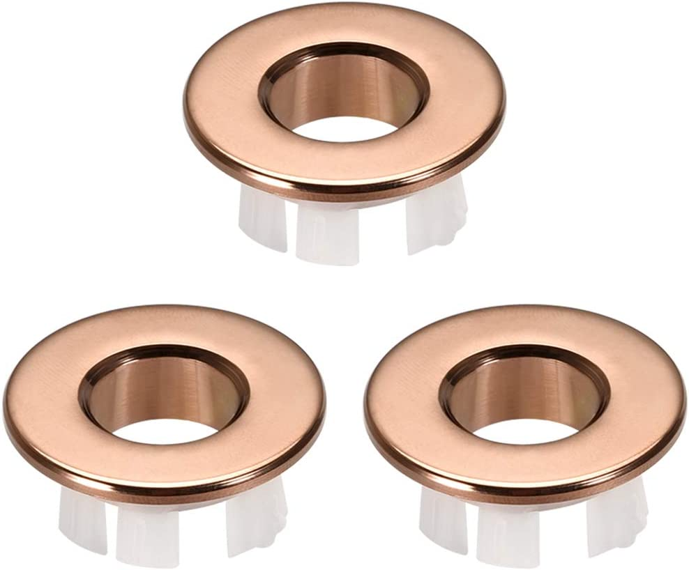uxcell Classic Sink Basin Trim Overflow Cover Hole Roun Insert Translated Copper in