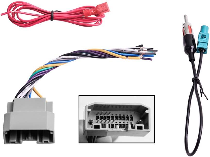 Amazon.com: Car Stereo Radio Wiring Harness Antenna Adapter for Some Jeep  Dodge Chrysler: Car ElectronicsAmazon.com