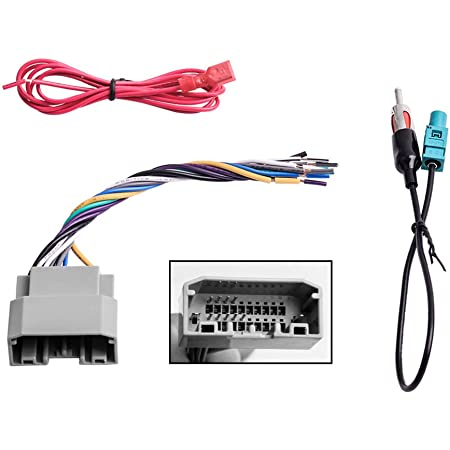 amazon.com: car stereo radio wiring harness antenna adapter for some jeep dodge  chrysler: home audio & theater  amazon.com