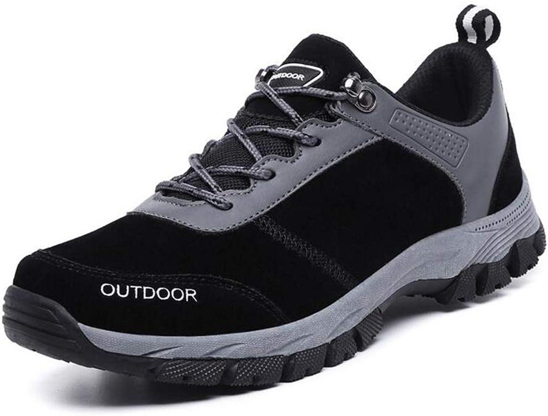 Hy Herren Outdoor Wanderschuhe, Große Slip-Ons Slip-Ons Slip-Ons Trekking Reise Schuhe Klettern Turnschuhe Werkzeug Stiefel Flache Laufschuhe (Farbe   Schwarz, Größe   48) bcf66c