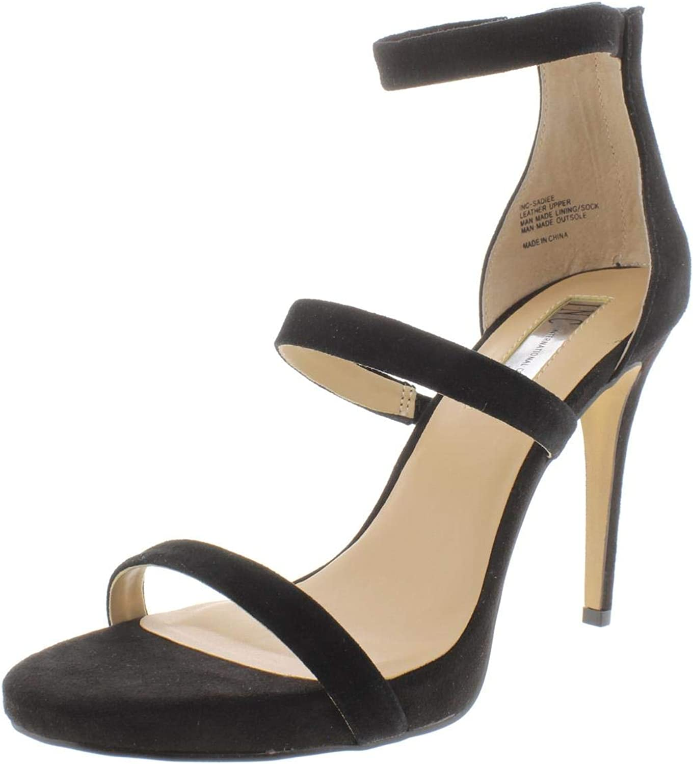 Inc Womens Sadiee Suede Stiletto Dress Sandals Black 9 Medium (B,M)