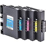 4x Cartouches d'encre compatibles avec puce pour Ricoh GC 41, par exemple, Lanier SG 3100/3110 DN / 3110 DNW / 7100 dn / Gestetner SG 3100/3110 DN / 3110 DNW / Gestetner SG K-3100 dn / NRG Aficio 3100 SG / SG 3110 DN / SG 3110 DNW / NRG SG 3100/3110 DN / 3110 DNW / NRG SG K-3100 dn / Ricoh Aficio 3100 SG / SG 3100 SNW / SG 3110 dn / SG 3110 dnw / SG 3110 n / SG 3110 SFNw / SG 3120 B SF / SG 3120 B PNS / SG 3120 B SFNw / SG 7100 dn / SG K 3100 dn