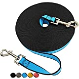 SEPXUFORE Tie Out / Obedience Recall Training Agility Lead- 15ft 30ft 50ft Training Yard Leash - Thick Long Dog Leash for Backyard, Play or Camping