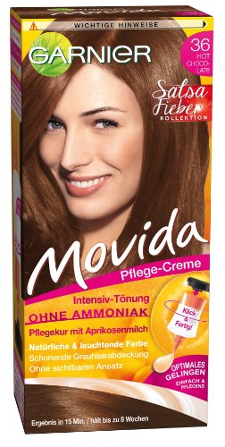 Garnier Tönung Movida Pflege-Creme, Intensiv-Tönung Haarfarbe 36 Hot Chocolate, 1er Pack