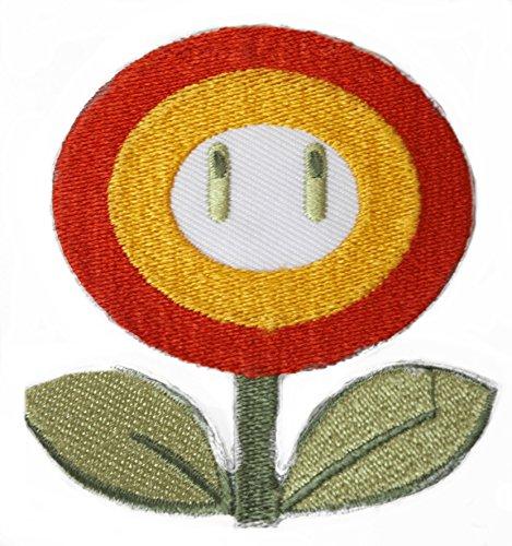 Vuur Bloem Patch Geborduurd IJzer op Badge Applique Kostuum Cosplay Mario Kart/Snes/Mario World/Super Mario Brothers/Mario Allstars