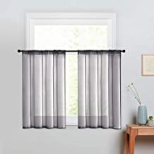 MRTREES Sheer Curtains Living Room Curtain Sheers Light Filtering Sheer Curtain Panels Voile Window Treatment Set Bedroom ...