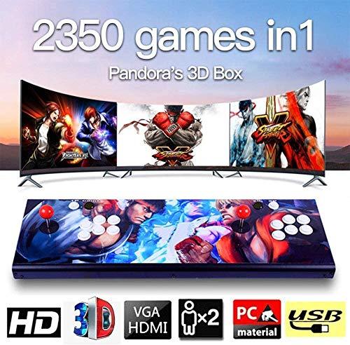 MISTLI 3D De La Caja De Pandora del Juego De Arcada De La Máquina De Consola De Video Clásico, 2 Jugadores 1920X1080 Full HD De La Consola Multijugador Inicio Arcade