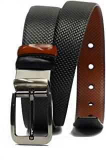Sponsored Ad – Kingman Mens Reversible Belt Genuine Leather Formal Belt, Model 9001 Black