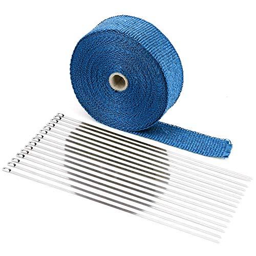 Bandage thermique Bleu pour déversements collecteurs MT.10 avec 10 Colliers inoxydable professionnelles