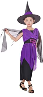 Halloween Costume Kids Girls Witch Cosplay Dress Party Dresses Cosplay Outfit Costume (Small)