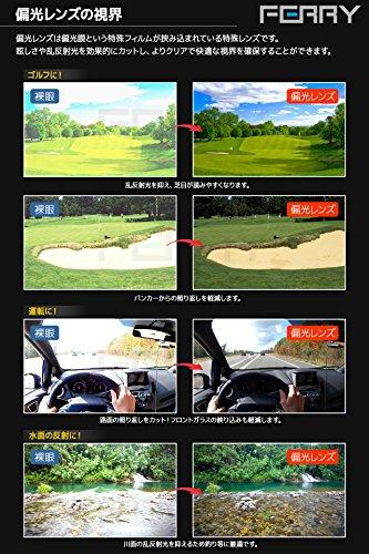 (フェリー)FERRY偏光レンズスポーツサングラスフルセット専用交換レンズ5枚ユニセックスブルー/ブラック