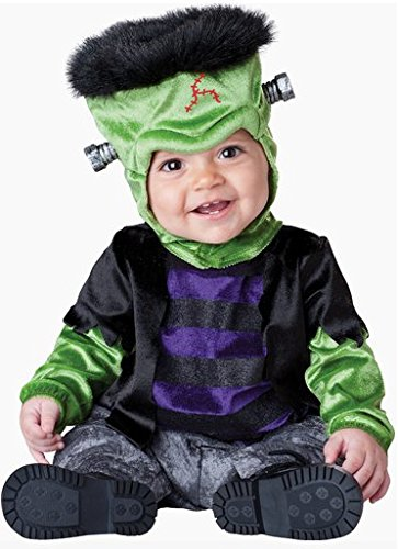 Costume carnevale Frankenstein bebè travestimento carnevale halloween cosplay neonato tuta e copricapo costume bambino tuta intera da vestire sotto costume mostro film (0/6 mesi)
