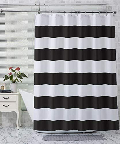 Top 10 Best black and white bathroom curtains Reviews