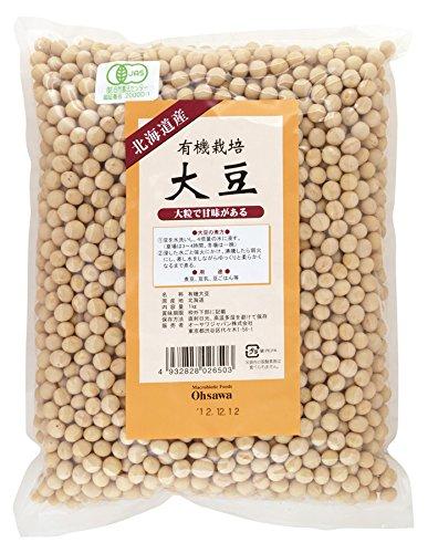 オーサワ 有機栽培大豆 北海道産 1kg
