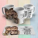 Taza de café y té,novios pareja matrimonio,san valentin Carl y Ellie up películas Custom Regalo Amig...