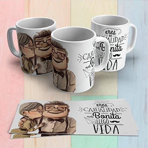 Taza de café y té,novios pareja matrimonio,san valentin Carl y Ellie up películas Custom Regalo Amigo cumpleaños sorpresa…