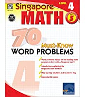 Singapore Math – 70 Must-Know Word Problems Workbook for 5th Grade Math, Paperback, Ages 10–11 with Answer Key (Singapore Math 70 Must Know Word Problems)