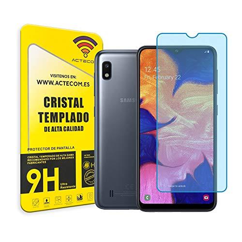 actecom Cristal Templado Protector Pantalla Compatible con Samsung Galaxy A10 Cristal Templado a 10 9H 2.5D Glass Premium 0,3mm