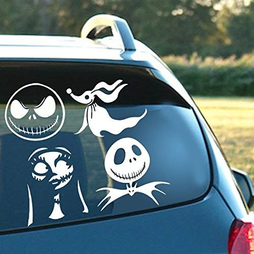 MAF - Nightmare Before Christmas Collection Sally Two Jacks and Zero Vinyl Decal Sticker for Cars LAPTOPS Walls Windows Toolbox Gift