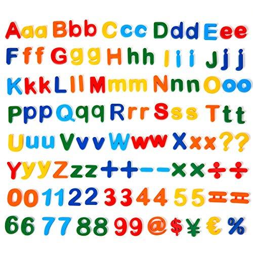 BIGTREE 115 Pezzi ABC Lettere magnetiche Numeri Magneti alfabetici Magnete del Frigorifero Giocattolo educativo per i Bambini in età prescolare Bambini Che imparano Conteggio Ortografico
