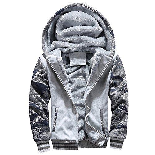 NINGSANJIN Herren Mantel Slhadams Trench Coat Warren Herren Wollmantel Lange Jacke Mit Stehkragen (Grau,XXXX-Large)
