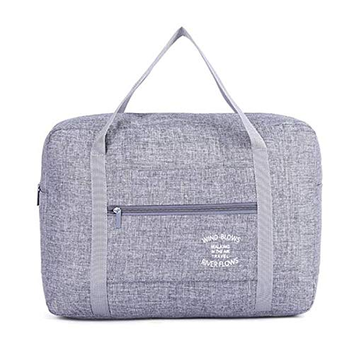 Yaootely Gray Waterproof Cosmetic Travel Bags Women Men Large Duffle Bag Travel Organizer Luggage Bags Packing Cubes Weekend Bag