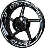 Motocicleta Moto Llanta Inner Rim Tape Decal Pegatinas F2 para Suzuki GSX-R 750 (Blanco)