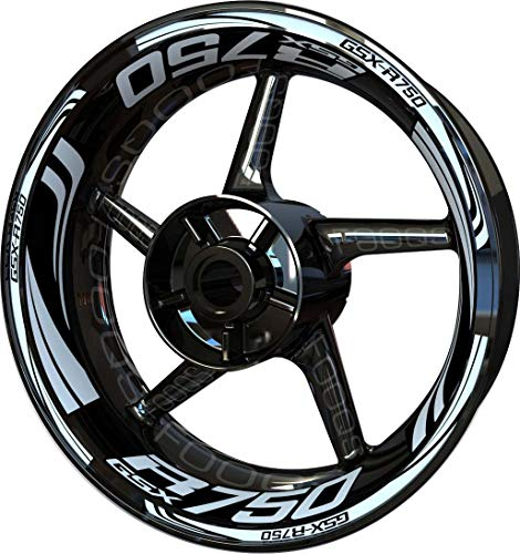 Motocicleta Moto Llanta Inner Rim Tape Decal Pegatinas F2 para Suzuki GSX-R...