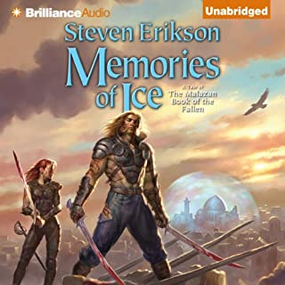 Memories of Ice     Malazan Book of the Fallen, Book 3              Auteur(s):                                                                                                                                 Steven Erikson                               Narrateur(s):                                                                                                                                 Ralph Lister                      Durée: 43 h et 55 min     79 évaluations     Au global 4,9