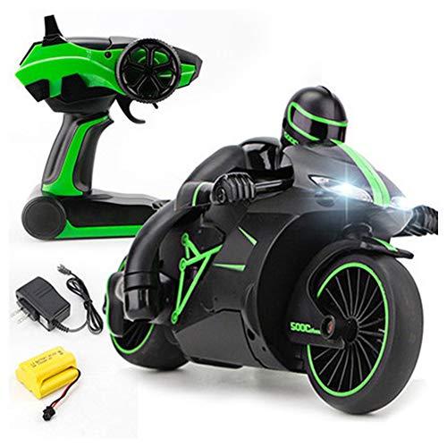 YLEI Coche de Control Remoto, Eléctrico Off-Road Motocicleta con Luz y Radio Control, Seguro y Duradero, Regalo De Niños (24.4 * 12.7 * 14CM),Verde