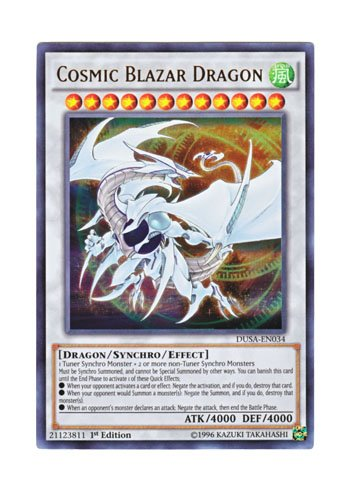 遊戯王 英語版 DUSA-EN034 Cosmic Blazar Dragon コズミック・ブレイザー・ドラゴン (ウルトラレア) 1st Edition