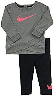 Nike Infant Girls A Wrap-Style Glittered Swoosh Dri-Fit Tunic & Leggings Set